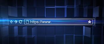 Url waarin https staat, wat aangeeft dat deze website een SSL certificaat heeft